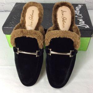 78f94ec68185 Sam Edelman Shoes - Danica Mules Black  Faux Fur Sam Edelman
